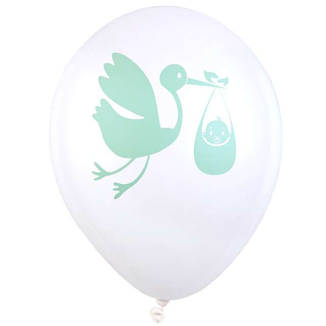 """Balony """"Baby Shower"""", biały, 9"""", SANTEX, 8 szt"""