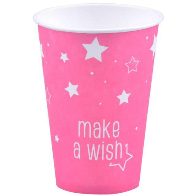 """Kubeczki papierowe """"Gwiazdki"""", różowe jasne, 200 ml, 8 szt"""