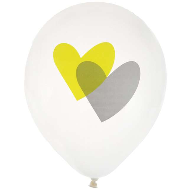 """Balony """"Dwa serca, zielone"""", biały, SANTEX, 9"""", 8 szt"""