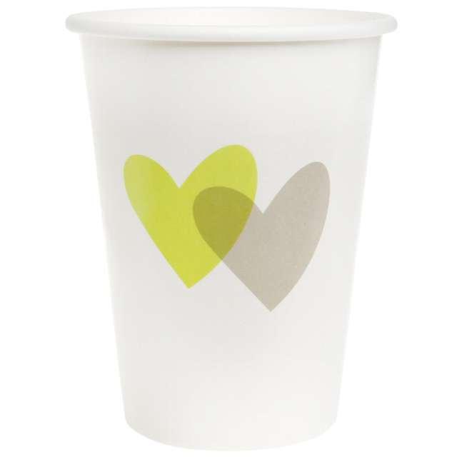 """Kubeczki papierowe """"Dwa serca, zielone"""", SANTEX, 250 ml, 10 szt"""