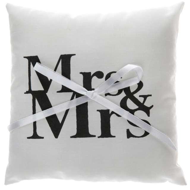 """Poduszka kwadratowa pod obrączki """"Mr & Mrs"""", SANTEX, 18 x 18 cm, 1 szt"""