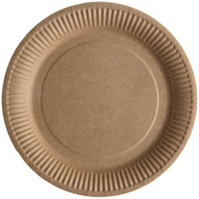 """Talerzyki papierowe """"Kraft, brązowe"""", SANTEX, 23 cm, 10 szt"""