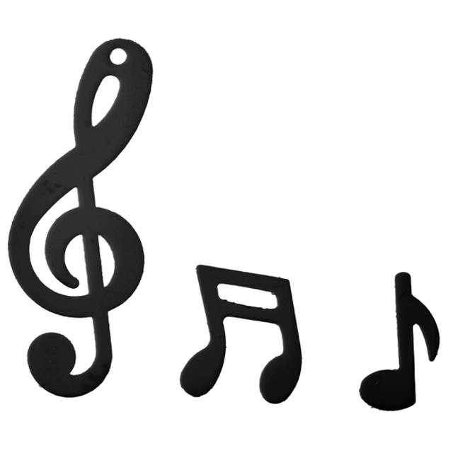 """Konfetti """"Muzyczne"""", czarne, SANTEX, 20 g"""