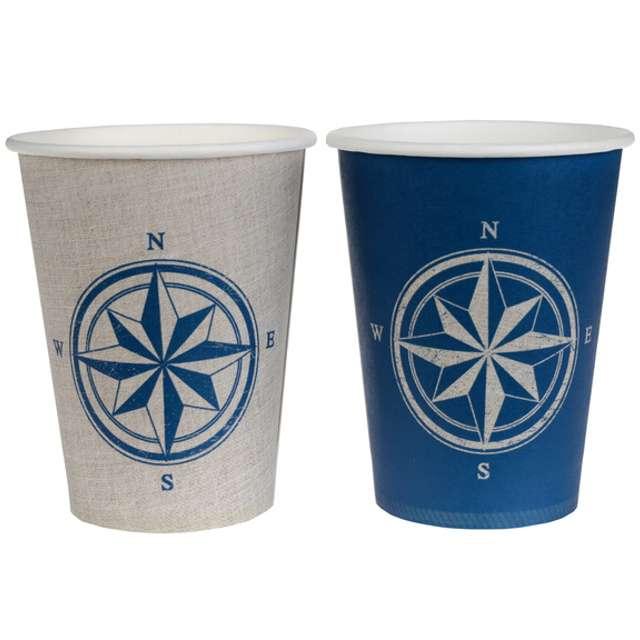 """Kubeczki papierowe """"Marynarskie"""", SANTEX, 250 ml, 10 szt"""