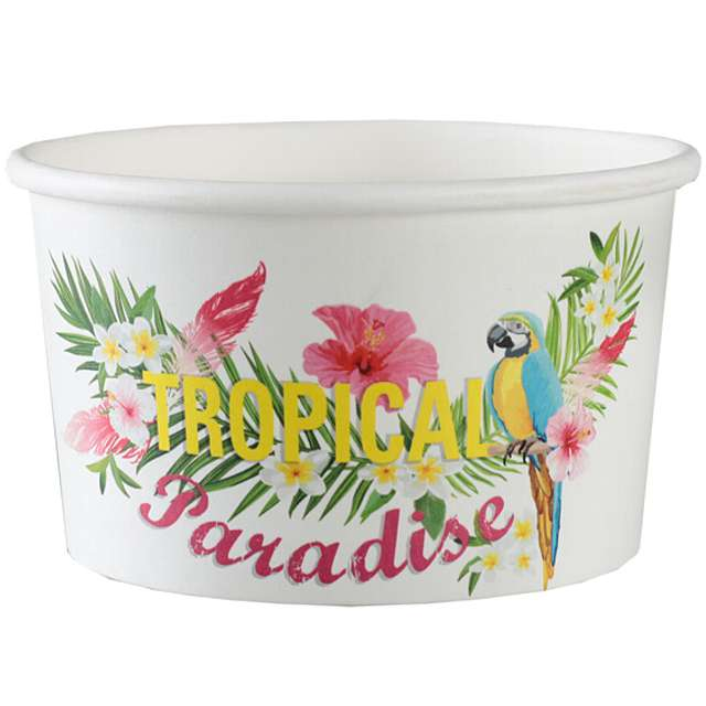 "Kubeczki do lodów ""Tropical Summer"", Santex, 150 ml, 10 szt"