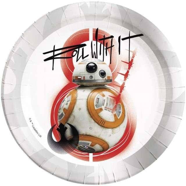 """Talerzyki papierowe """"Star Wars Ostatni Jedi"""", Procos, 23 cm, 8 szt"""