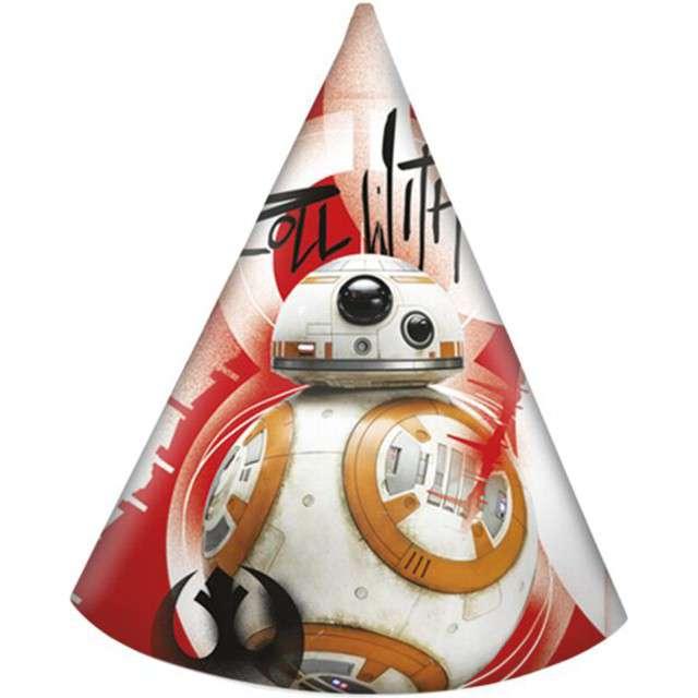 """Czapeczki papierowe """"Star Wars Ostatni Jedi"""", PROCOS, 6 szt"""