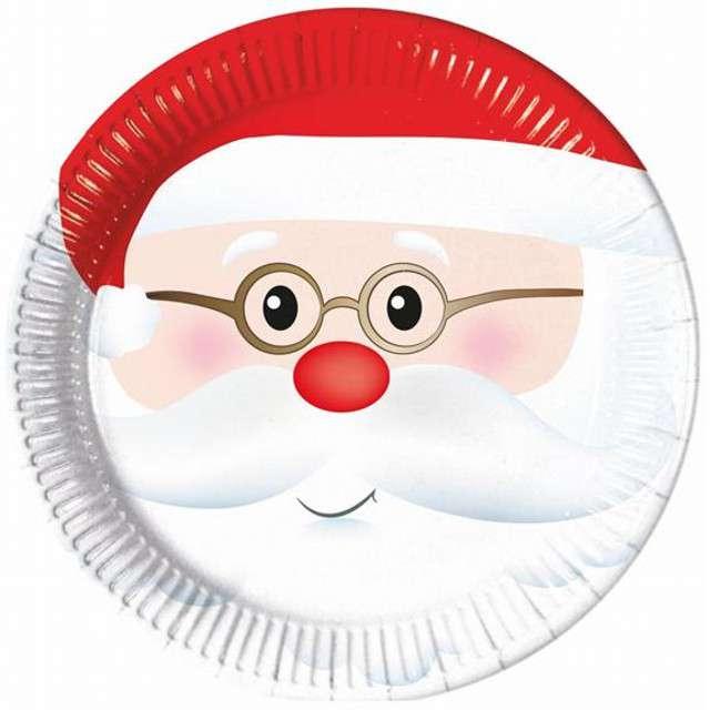 """Talerzyki papierowe """"Święty Mikołaj"""", PROCOS, 23 cm, 8 szt"""