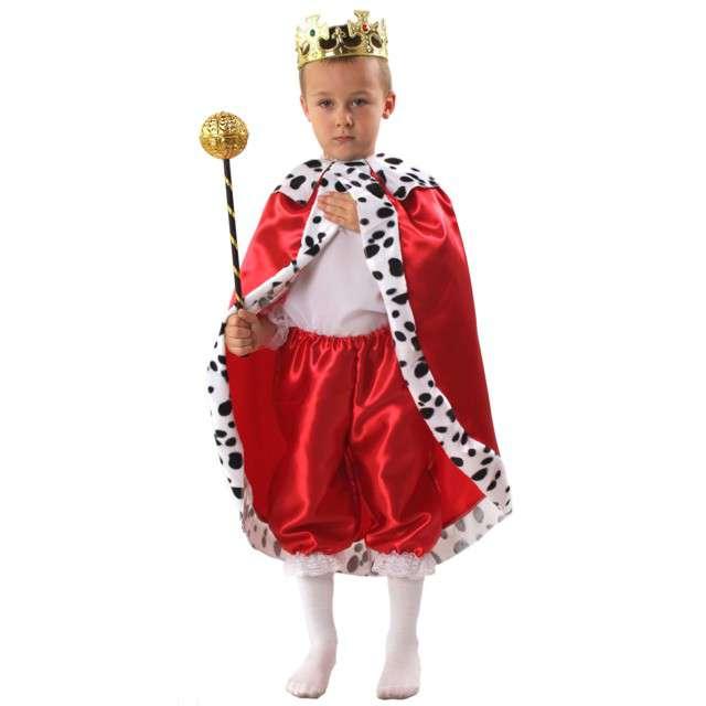 """Strój dla dzieci """"Król"""", KRASZEK, czerwony, roz. 134/140 cm"""