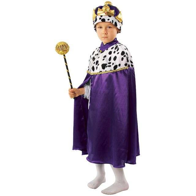 """Strój dla dzieci """"Peleryna Króla"""", KRASZEK, fioletowa, roz. 110/116 cm"""