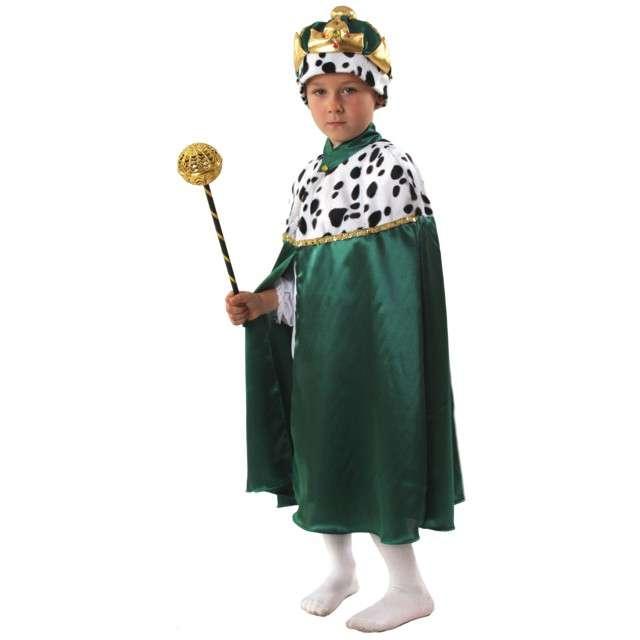 """Strój dla dzieci """"Peleryna Króla"""", KRASZEK, zielona, roz. 134/140 cm"""