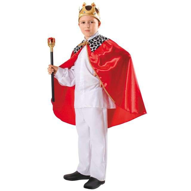 """Strój dla dzieci """"Peleryna Króla"""", KRASZEK, czerwona, roz. uniw."""