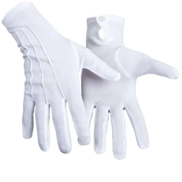 """Rękawiczki """"Święty Mikołaj, krótkie"""", KRASZEK, białe"""