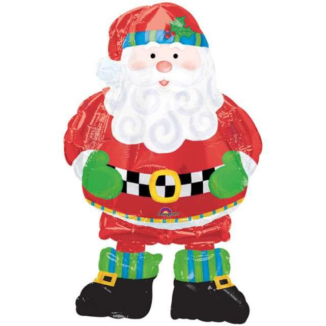 """Balon foliowy """"Święty Mikołaj"""", AMSCAN, 37"""" AWK"""