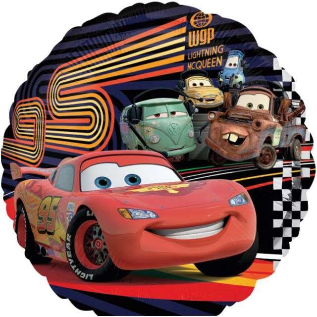 "Balon foliowy ""Cars"", AMSCAN, 9"" RND"
