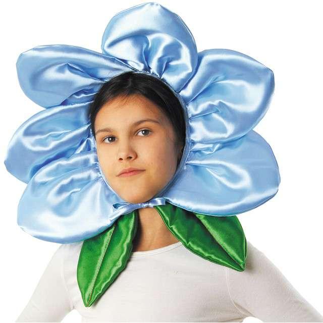 """Czapka """"Kwiatek"""", niebieski, KRASZEK"""