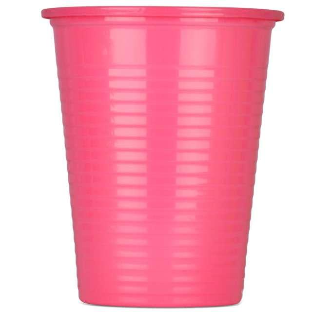 Kubeczki plastikowe 180 ml, ARPEX, różowe, 8 szt