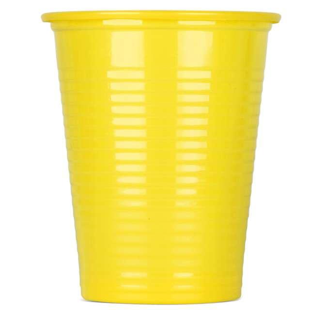 Kubeczki plastikowe 180 ml, ARPEX, żółte, 8 szt
