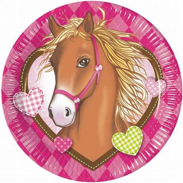 """Talerzyki papierowe """"Horses"""", PROCOS, 23 cm, 8 szt"""