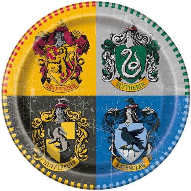 "Talerzyki papierowe ""Harry Potter"", UNIQUE, 23 cm, 8 szt"