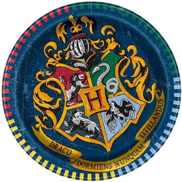 "Talerzyki papierowe ""Harry Potter"", UNIQUE, 18 cm, 8 szt"