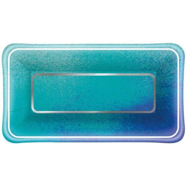 "Talerzyki papierowe ""Ocean Blue"", UNIQUE, 23 cm, 8 szt"