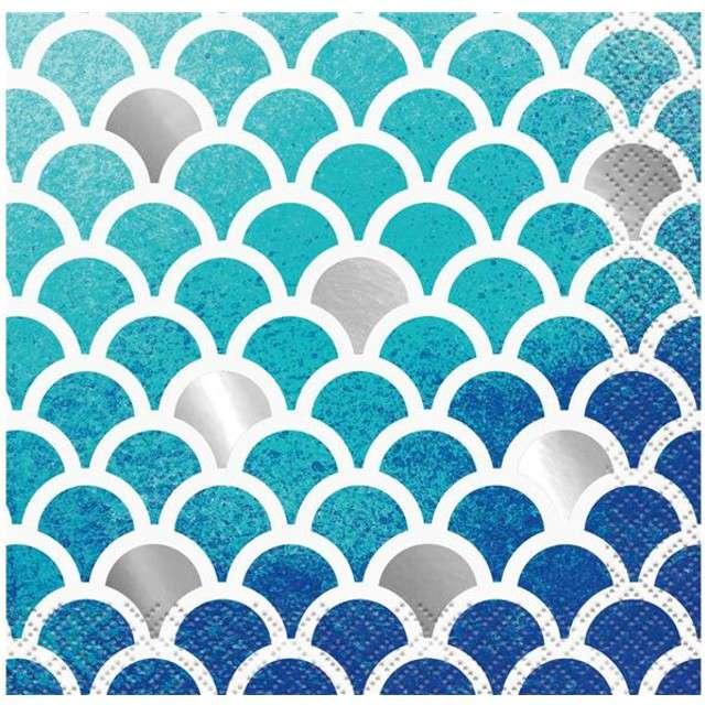 "Serwetki ""Ocean Blue"", UNIQUE, morskie, 25 cm, 16 szt"