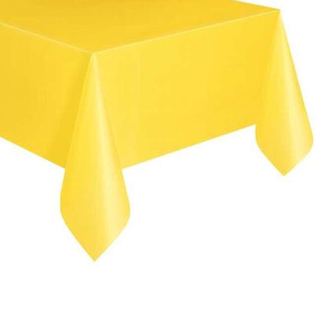Obrus foliowy, UNIQUE, żółty, 274 x 137 cm