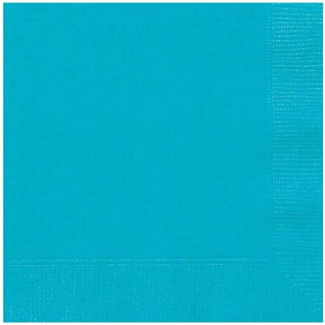 "Serwetki ""Classic"", UNIQUE, niebieski morski, 33 cm, 20 szt"