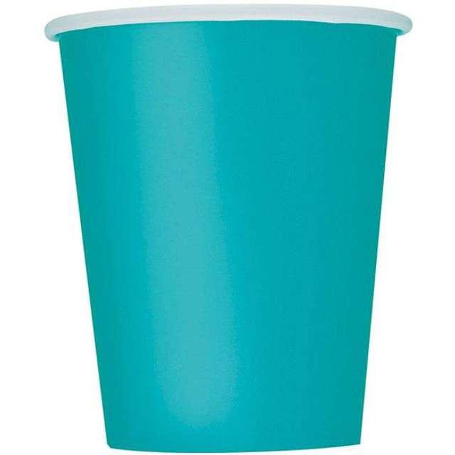 """Kubeczki papierowe """"Classic"""", UNIQUE, niebieski morski, 266 ml, 8 szt"""