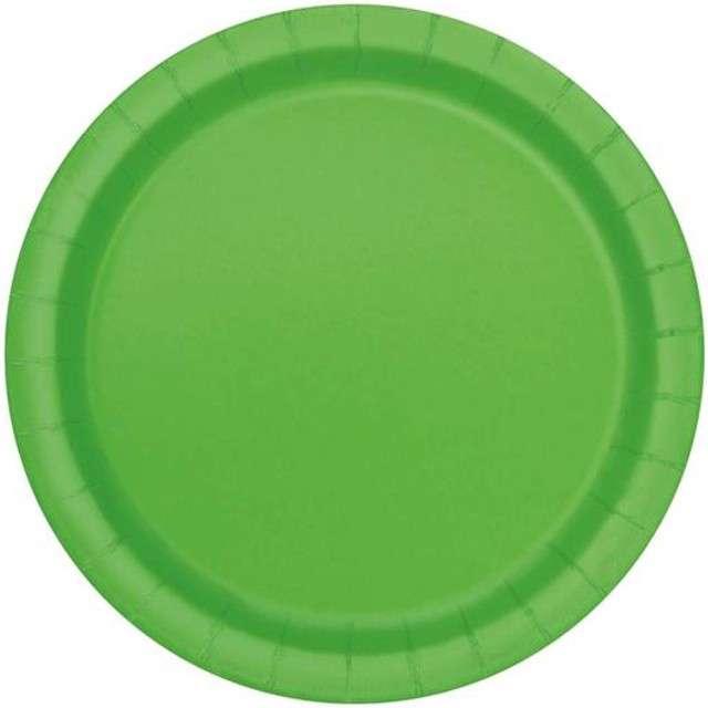 """Talerzyki papierowe """"Premium"""", UNIQUE, zielone, 23 cm, 16 szt"""