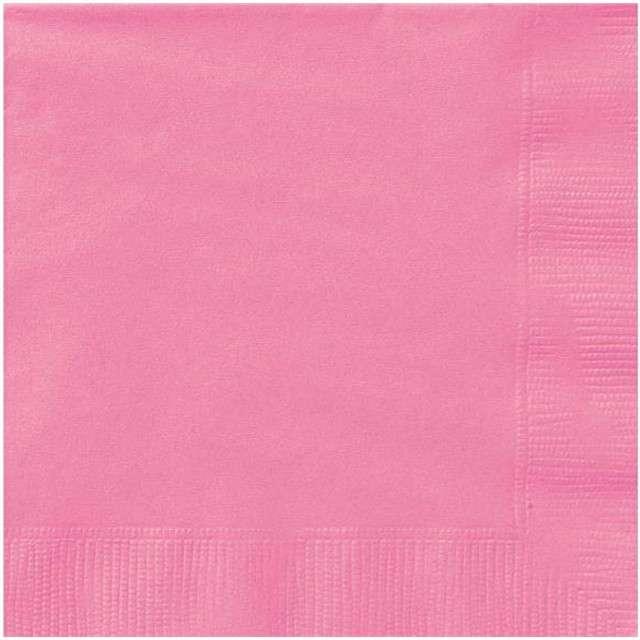 "Serwetki ""Classic"", UNIQUE, różowe, 33 cm, 20 szt"
