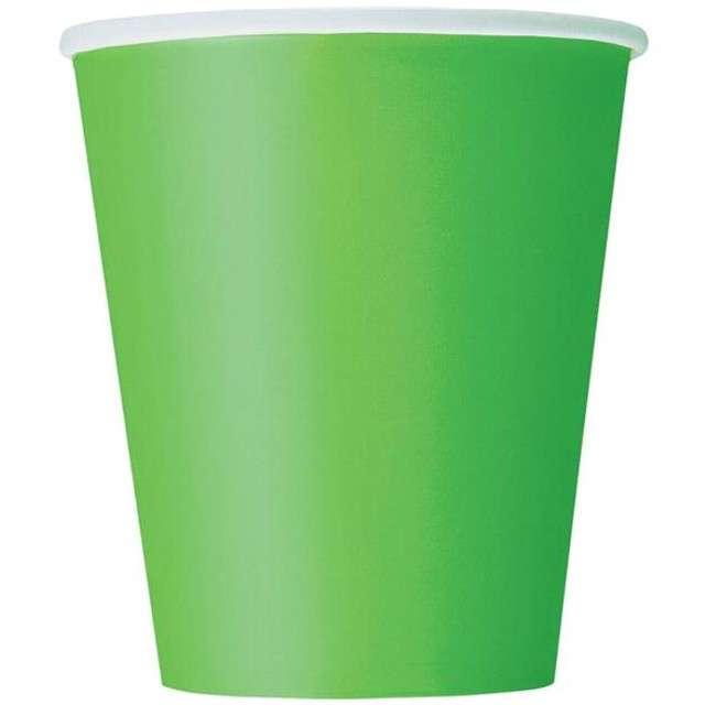 """Kubeczki papierowe """"Classic"""", UNIQUE, zielone, 266 ml, 8 szt"""