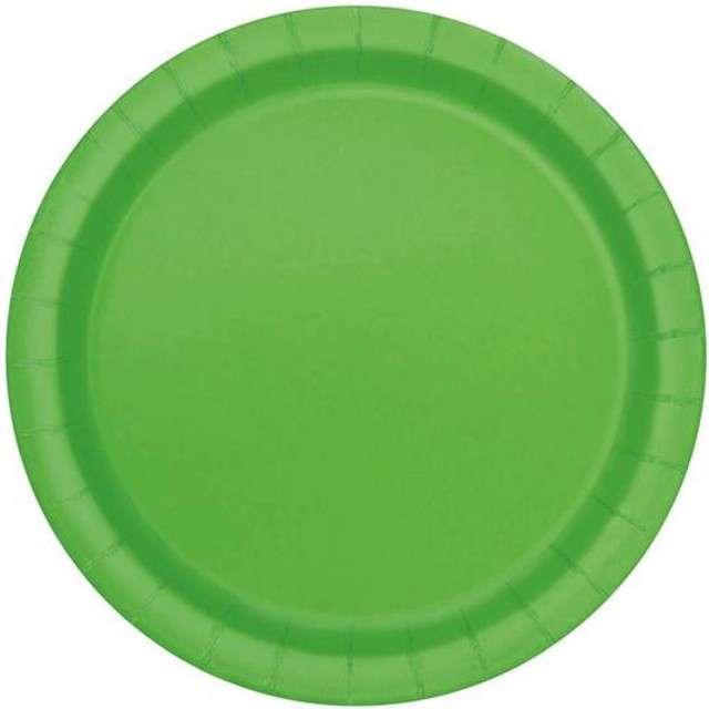 """Talerzyki papierowe """"Premium"""", UNIQUE, zielone, 18 cm, 8 szt"""