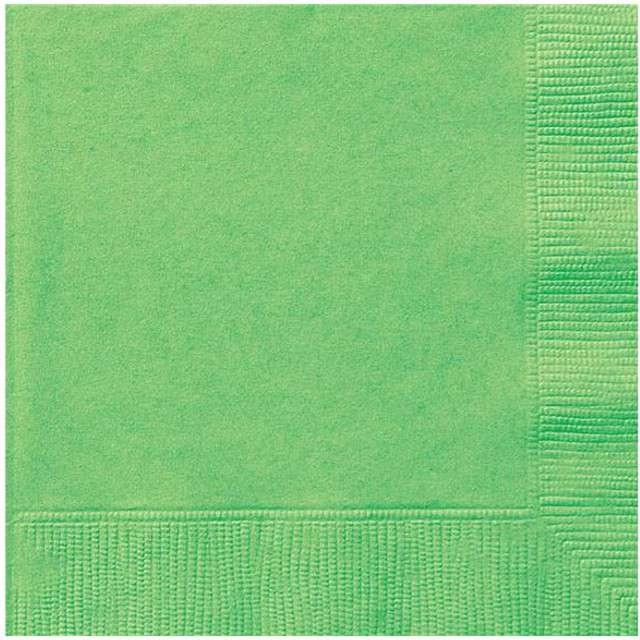 "Serwetki ""Classic"", UNIQUE, zielone, 33 cm, 20 szt"