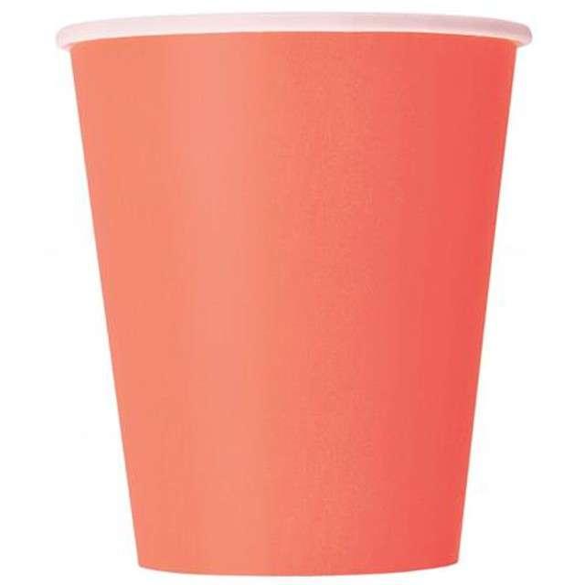 """Kubeczki papierowe """"Classic"""", UNIQUE, koralowe, 266 ml, 14 szt"""