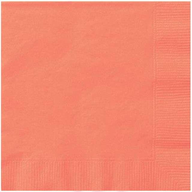 "Serwetki ""Classic"", UNIQUE, koralowe, 33 cm, 20 szt"