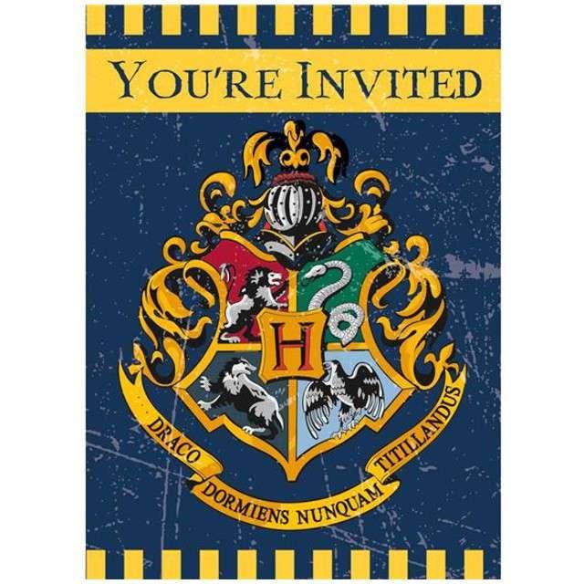 """Zaproszenia urodzinowe """"Harry Potter"""", UNIQUE, 8 szt"""