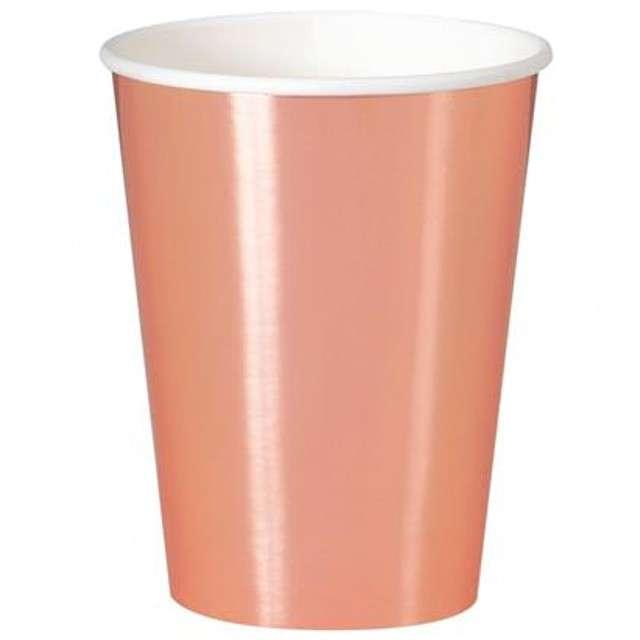 """Kubeczki papierowe """"Classic"""", UNIQUE, różowo-złote, 355 ml, 8 szt"""