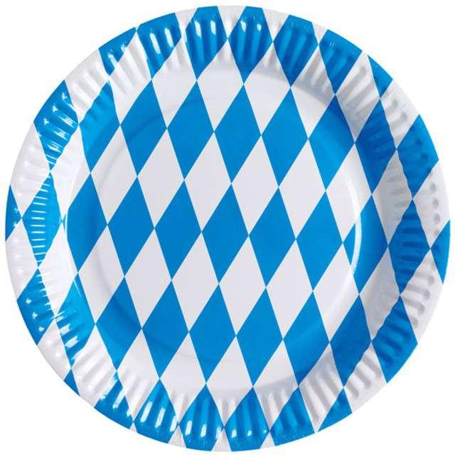 """Talerzyki papierowe """"Oktoberfest"""", AMSCAN, 23 cm, 8 szt"""