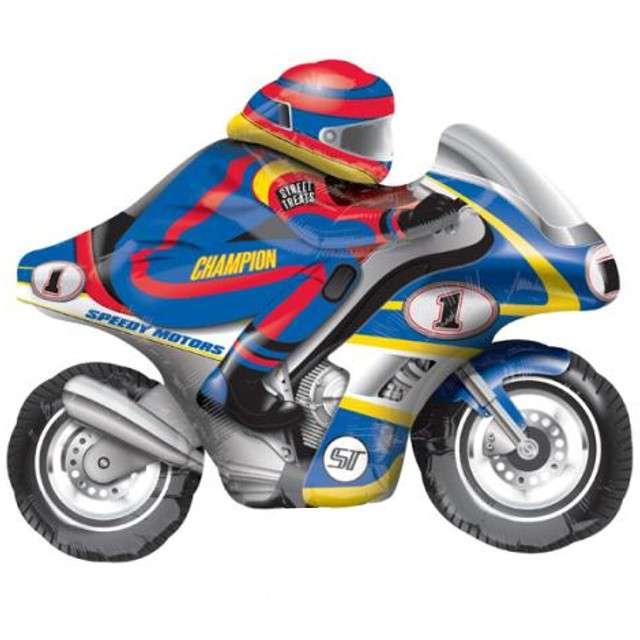 """Balon foliowy """"Motor"""", niebieski, AMSCAN, 35"""" SHP"""