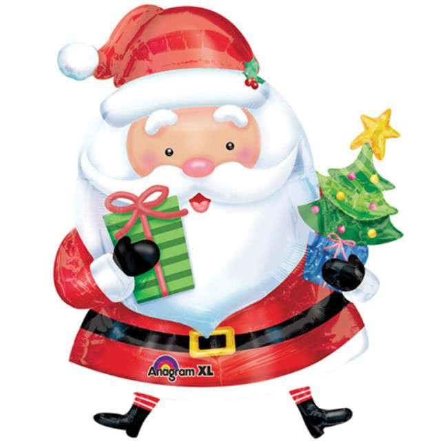 """Balon foliowy """"Święty Mikołaj"""", AMSCAN, 37"""""""