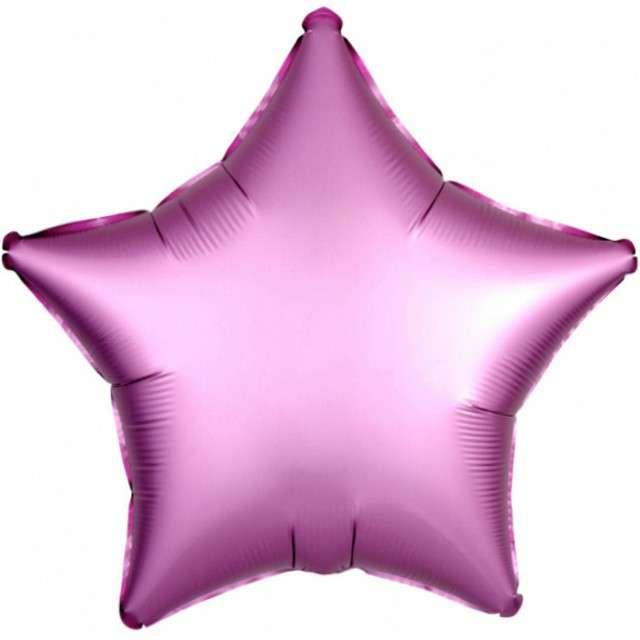 """Balon foliowy """"Gwiazda"""", różowy mat, AMSCAN, 17"""" STR"""