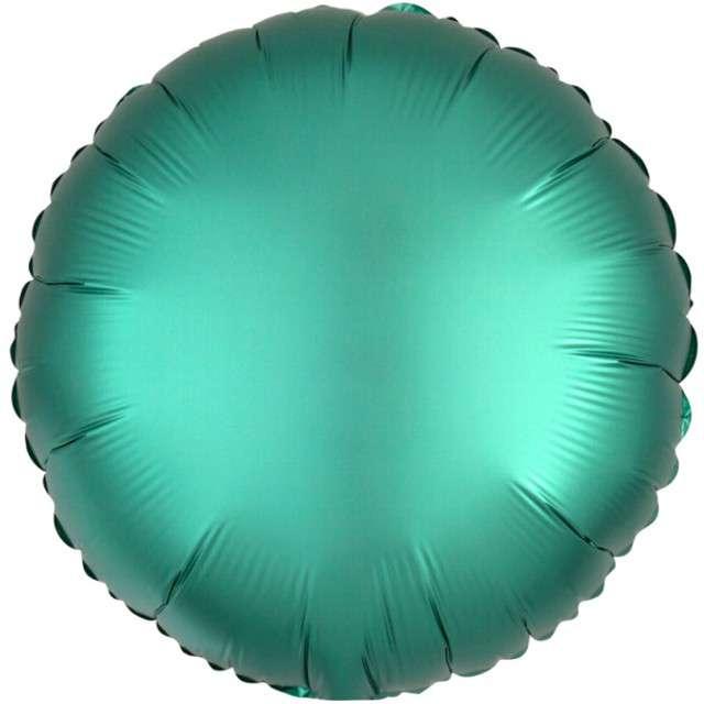 """Balon foliowy """"Okrągły"""", zielony mat, AMSCAN, 17"""" RND"""