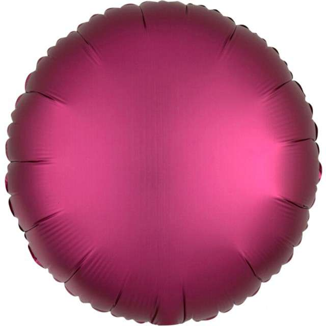 """Balon foliowy """"Okrągły"""", fuksja mat, AMSCAN, 17"""" RND"""