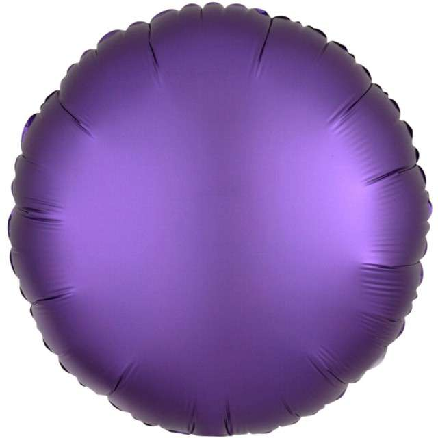 "Balon foliowy ""Okrągły"", fioletowy mat, AMSCAN, 17"" RND"