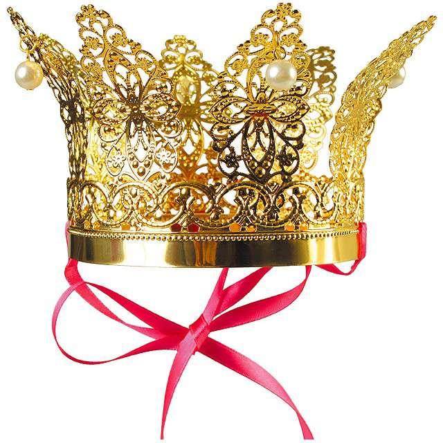 """Korona party """"Król Lux"""", metalowa, złota, KRASZEK"""