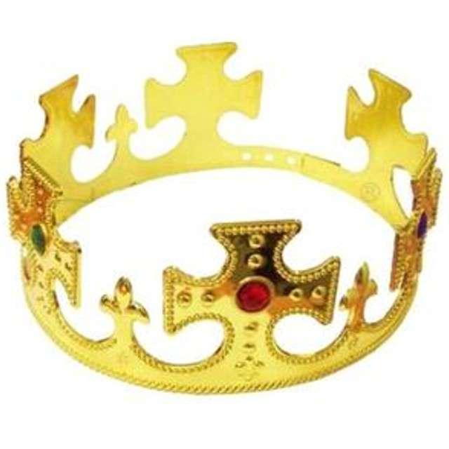 """Korona party """"Król"""", plastikowa, złota, KRASZEK"""