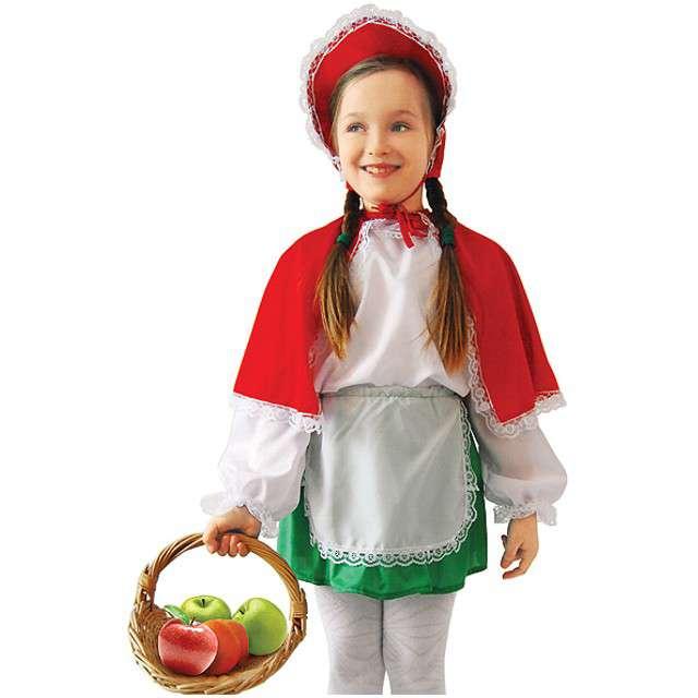 """Strój dla dzieci """"Czerwony Kapturek"""", KRASZEK, rozm. 134/140 cm"""