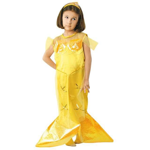 """Strój dla dzieci """"Syrenka"""", żółta, KRASZEK, rozm. 122 / 128 cm"""